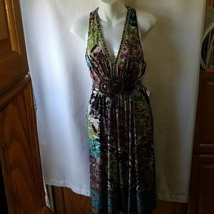 Womens Ice dress multi color sleeveless. Gorgeous